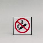 Informacinis ženklas Nerūkyti, kuris yra 93x93mm išmatavimų