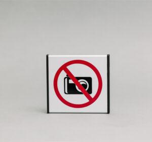 Nefotografuoti Informacinis ženklas yra 93x93mm išmatavimų