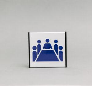 Posėdžių kambario informacinis ženklas, 93x93mm išmatavimų