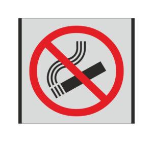 Durų lentelė kuri draudžia rūkyti.