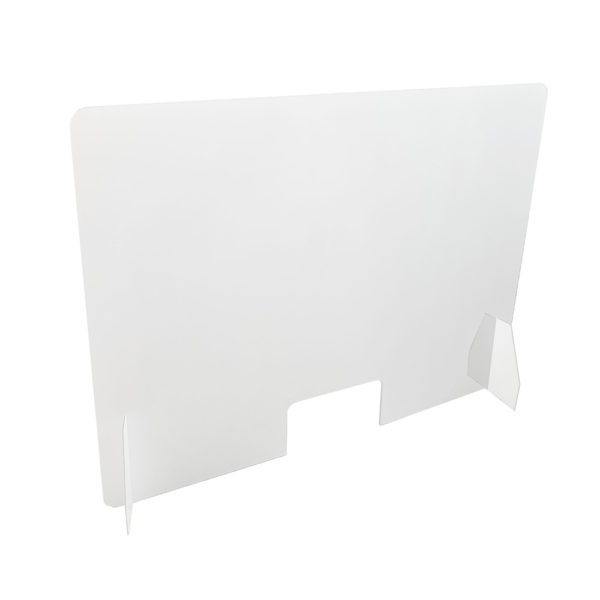 Apsauginė organinio stiklo siena 100x75cm. Pagaminta vien iš organinio stiklo.