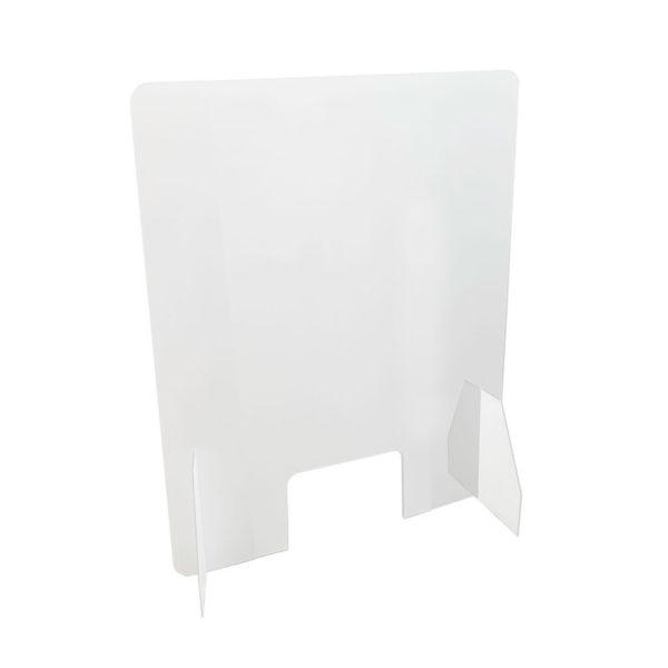 Apsauginė organinio stiklo siena 50x75cm. Pagaminta iš akrilo stiklo, aukštis 0,5 m., plotis 0,75 m.